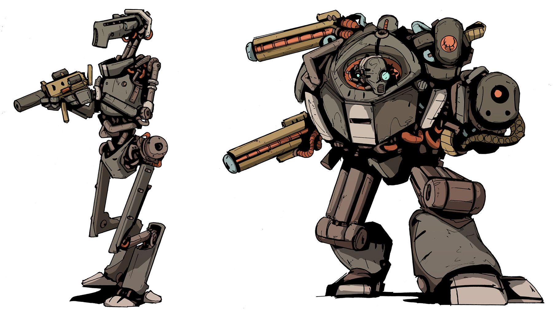 Additional Robots, Colour Preview